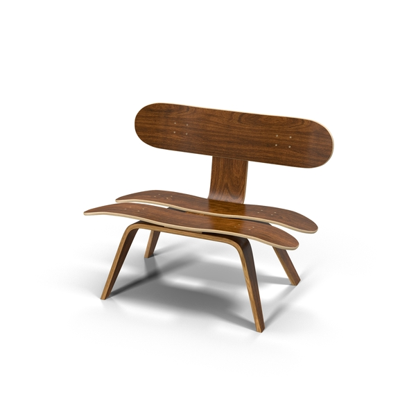 Recycled Skateboard Chair Object