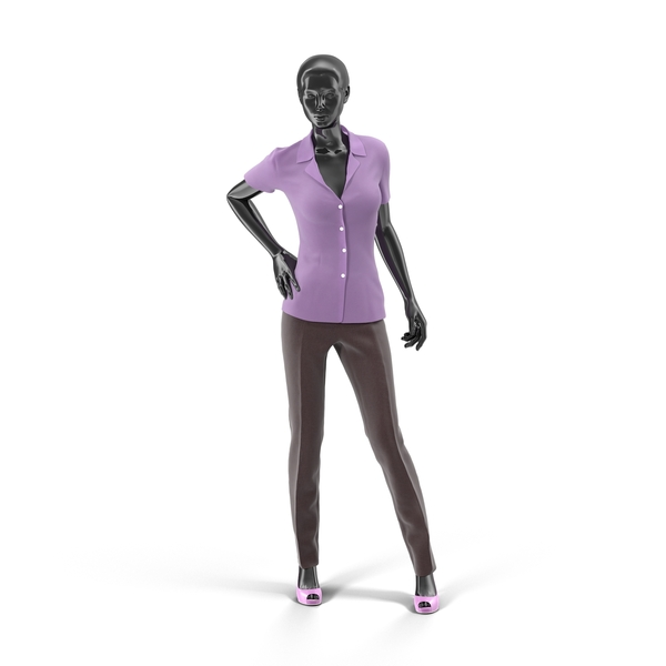 Showroom Mannequin With Pants And Blouse Object