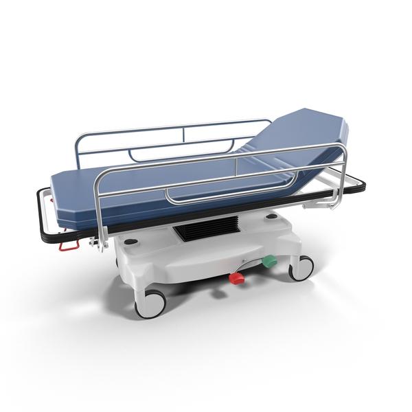 Hospital Blue Stretcher Object