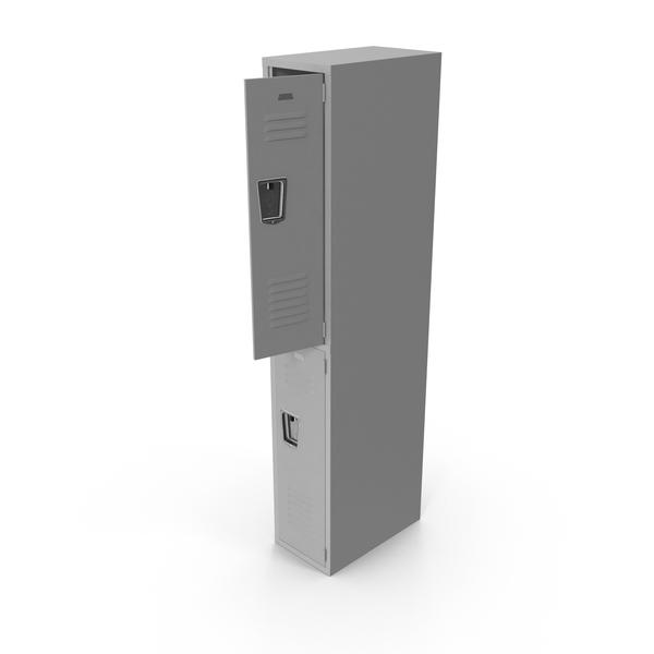 Open Grey Locker Object