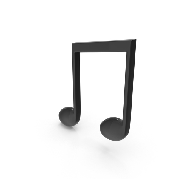 Beamed Musical Note Black Object