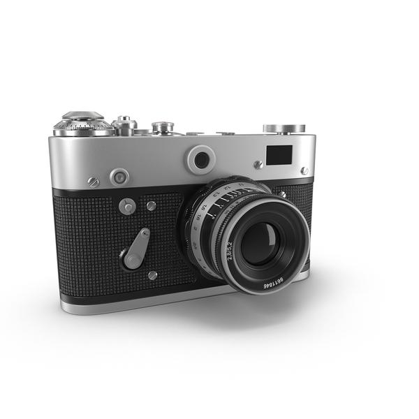 Vintage Rangefinder Camera Object