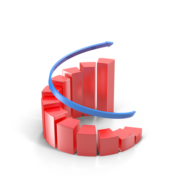 Spiral Growing Red Graph Object