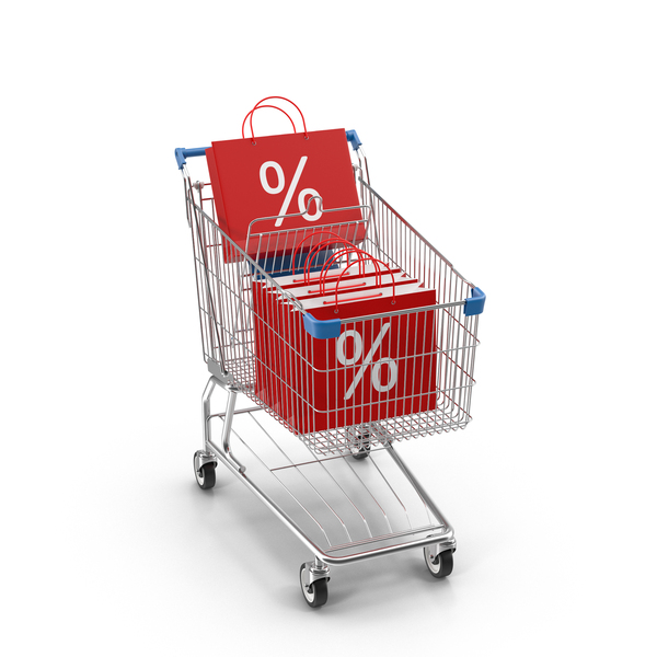 Shopping Cart and Sale Bags Object