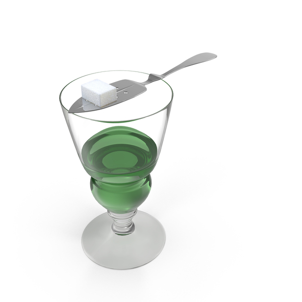 Absinthe Glass with Spoon Object