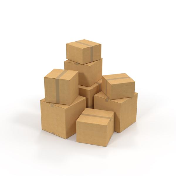 Cardboard Box Pile Object