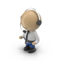 Cartoon Operator Character Object