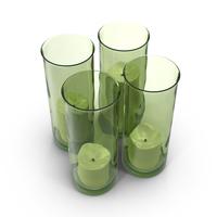 Green Candlestick Holder Object