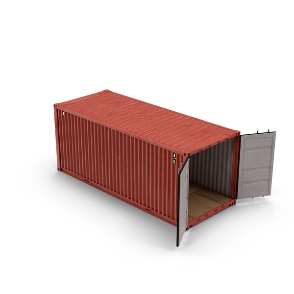 Shipping Container with Open Doors Object