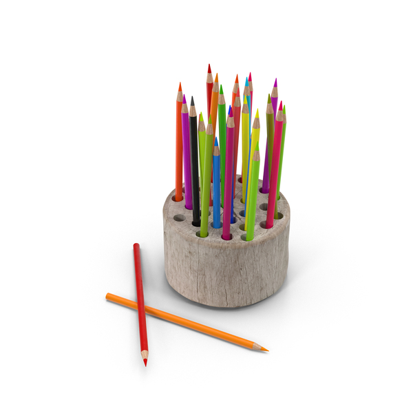 Wood Stump Pencil Holder Object