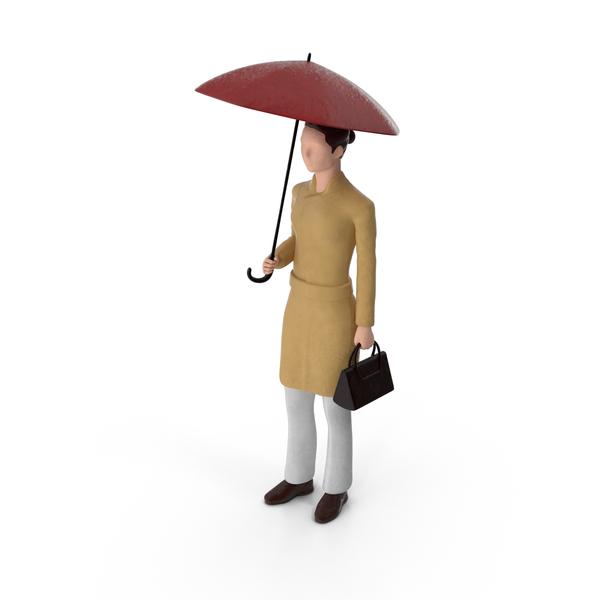 Miniature Woman Traveler Object
