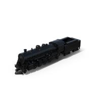 Black Steam Locomotive Object