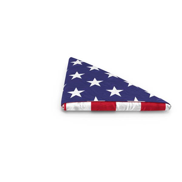 Folded American Flag Object