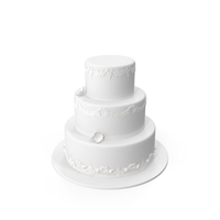 Round Wedding Cake Object