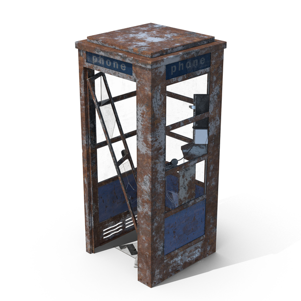 Weathered Phone Booth Object