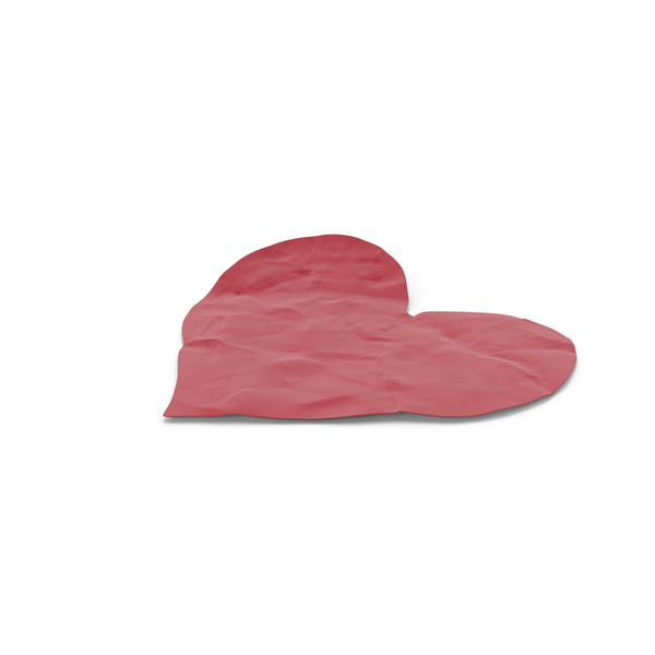 Paper Cutout Heart Object