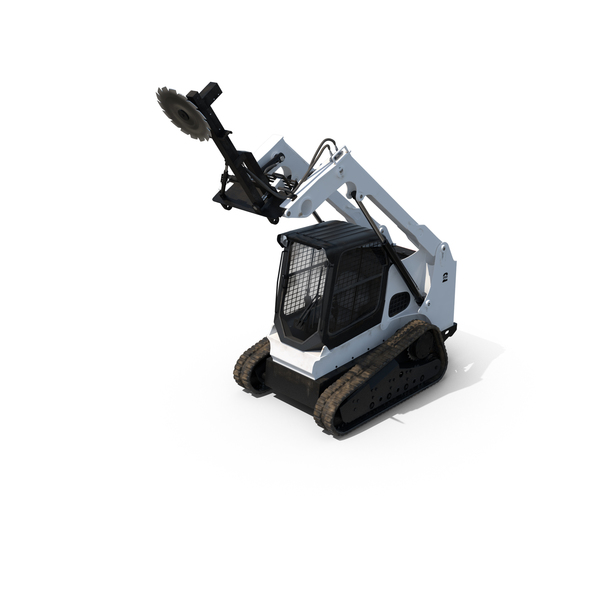 Compact Tracked Loader with Saw Object