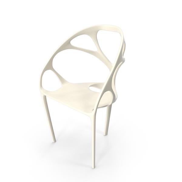 White Skeleton Chair Object