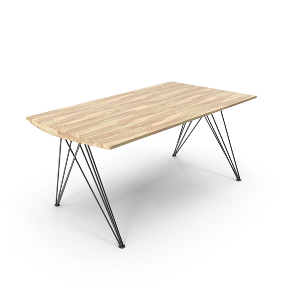 Wood and Wire Table Object