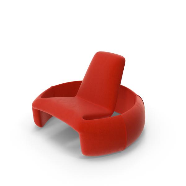 Modern Plush Chair Object