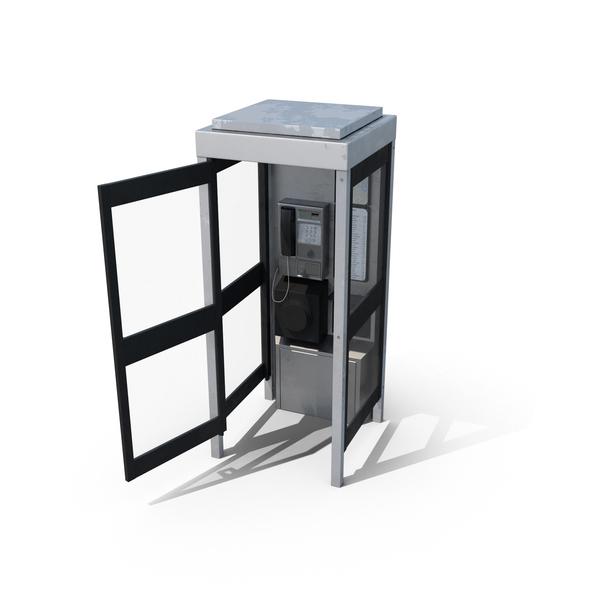 Telephone Box Open Object