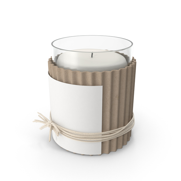 Candle with Twine Object