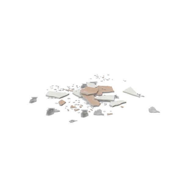 Broken Sheetrock and Glass Object