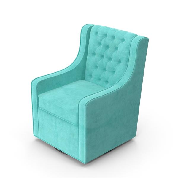 Blue Swivel Armchair Object