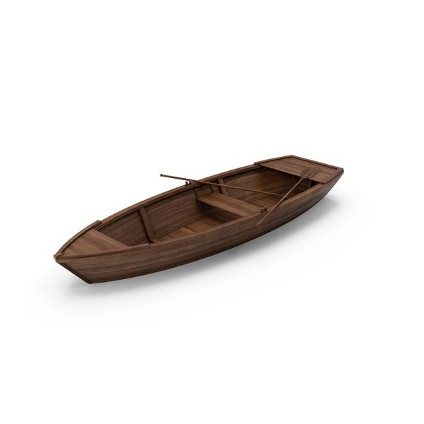 Wooden Boat Object