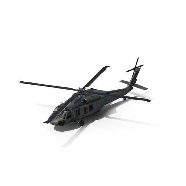 EH-60 Black Hawk Helicopter Object