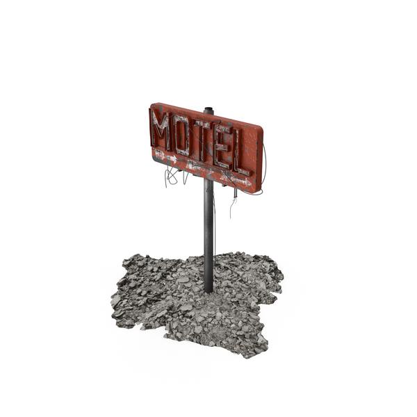 Destroyed Motel Sign Object
