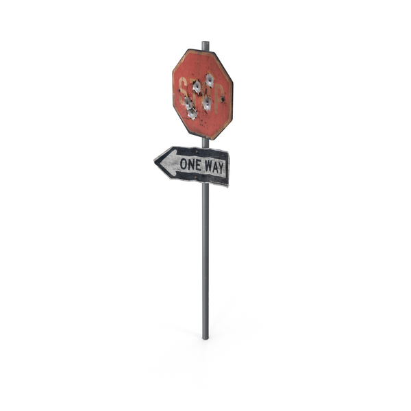 Ruined Stop Sign Object