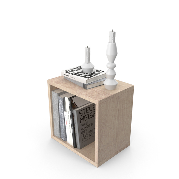 End Table with Books Object