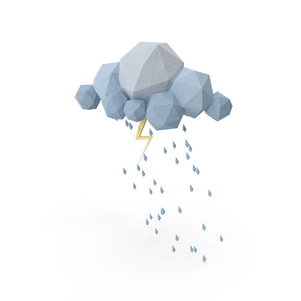 Low Poly Storm Cloud Object