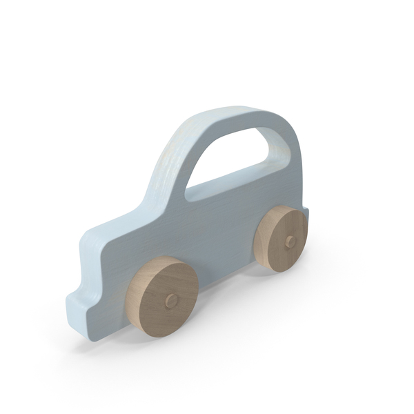 Baby Wooden Car Light Blue Object