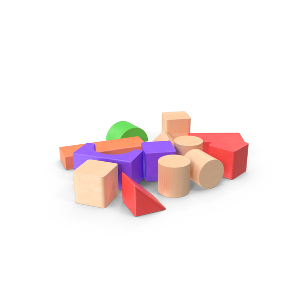 Baby Building Blocks Scattered Object