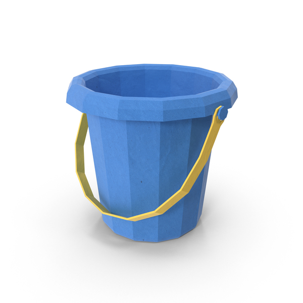 Low Poly Sand Bucket Object