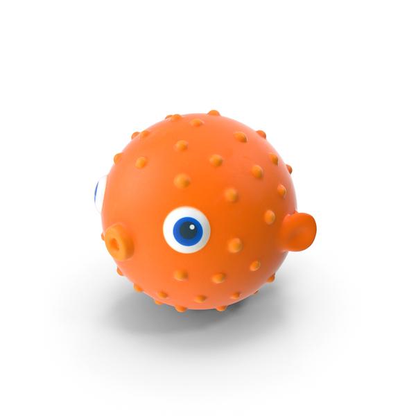 Blow Fish Bath Toy Object