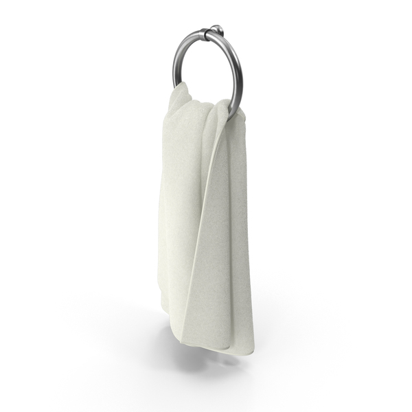 White Towel on Rack Object