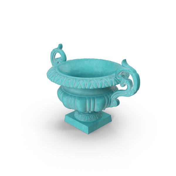 Baroque Urn Vase Object