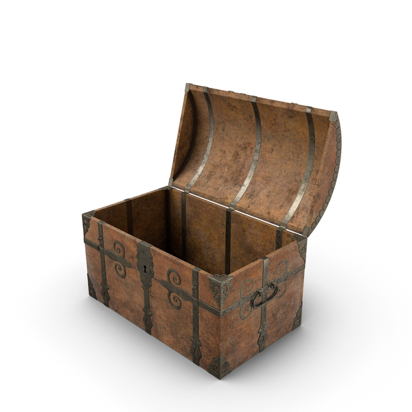 Medieval Sea Chest Open Object