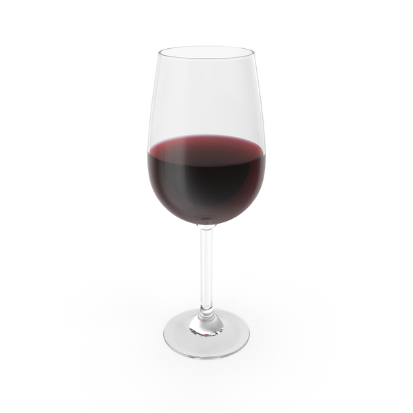 Glass of Red Wine Object