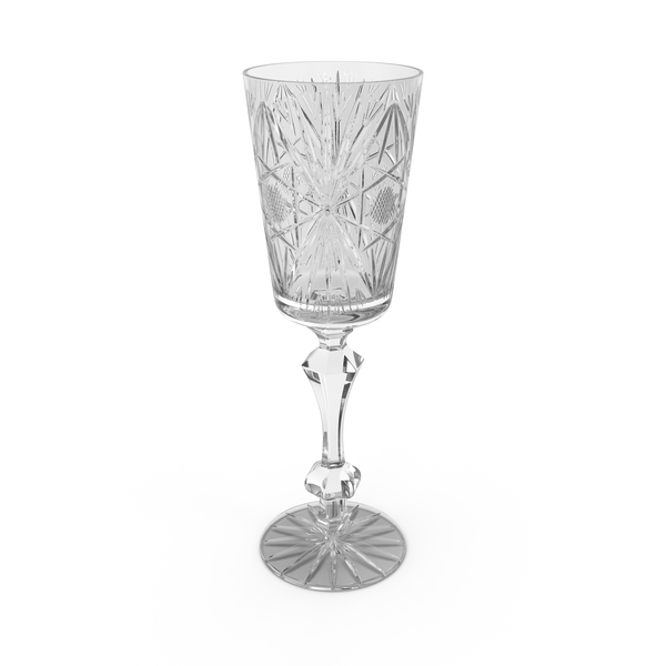 Engraved Champagne Glass Object