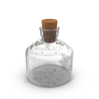 Old Glass Bottle Object
