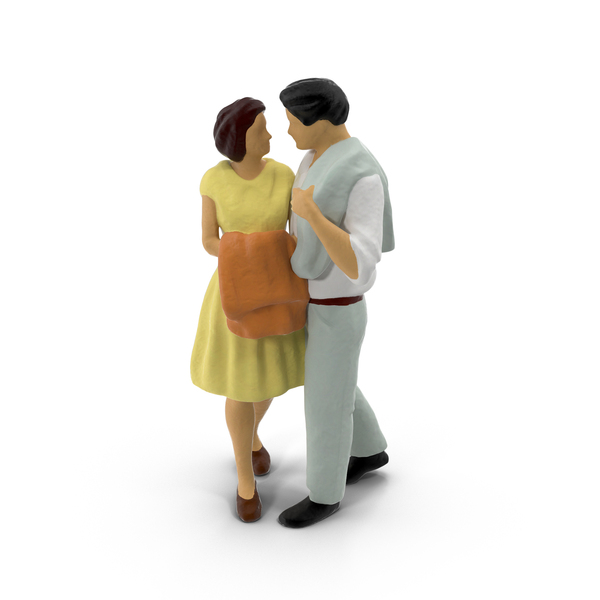 Miniature Toy Couple Object